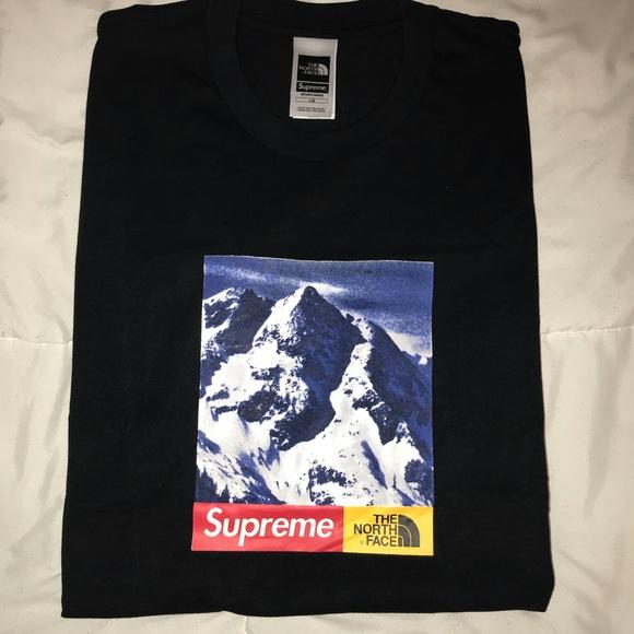 060e4acabc77 Supreme Shirts | The North Face Mountain Black Tee | Poshmark